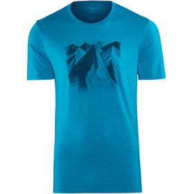 Icebreaker Tech Lite Geometry of Geology t-shirt Heren blauw